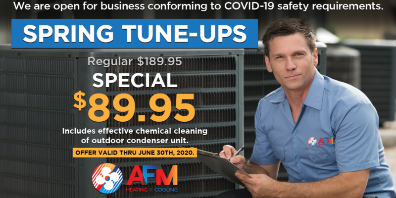 Spring Air Conditioner Tune-Ups Special - $100 Off